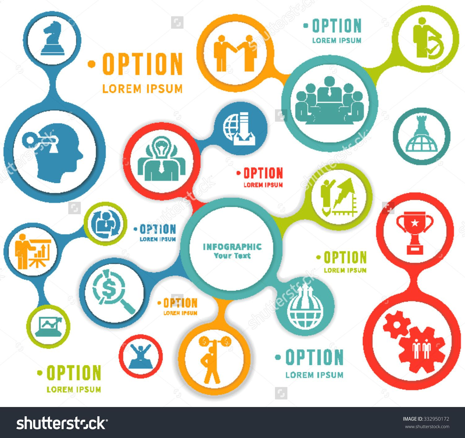 stock-vector-abstract-flat-design-flow-chart-info-graphic-elements ...