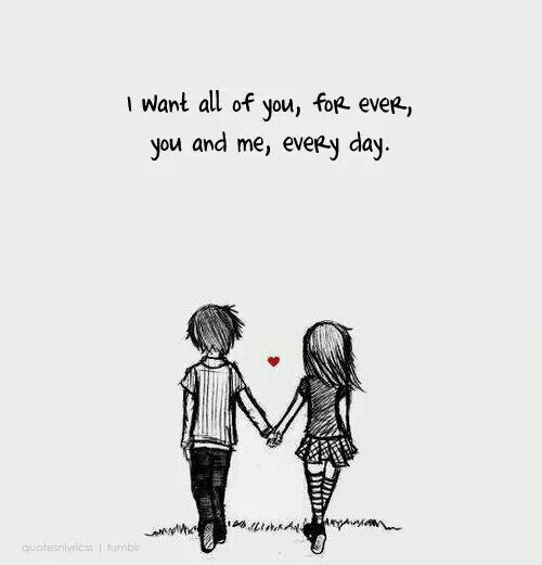 You And Me Always And Forever Quote Me Love Quotes For Her