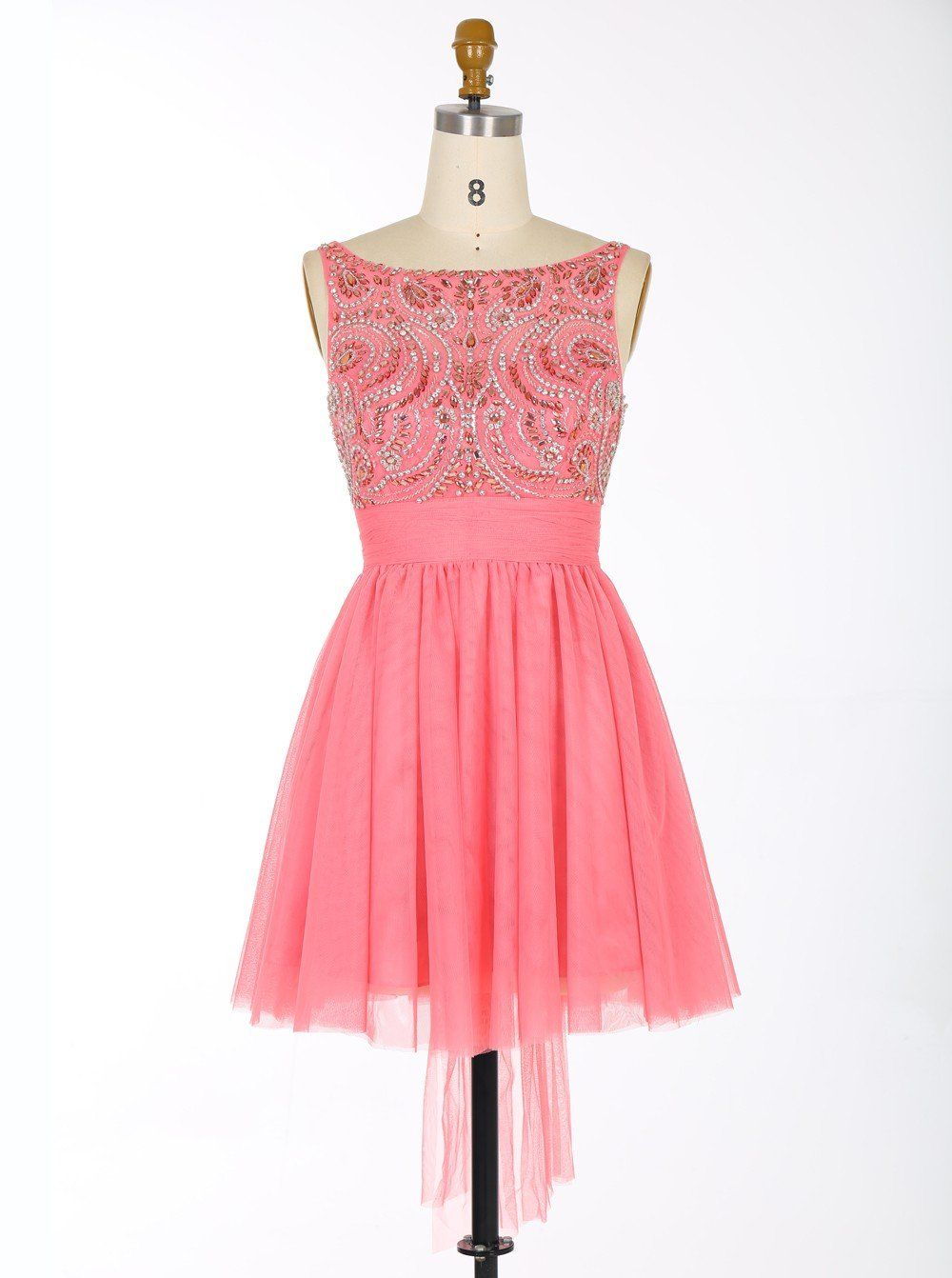 Watermelon homecoming dresssweet dressshort homecoming dress