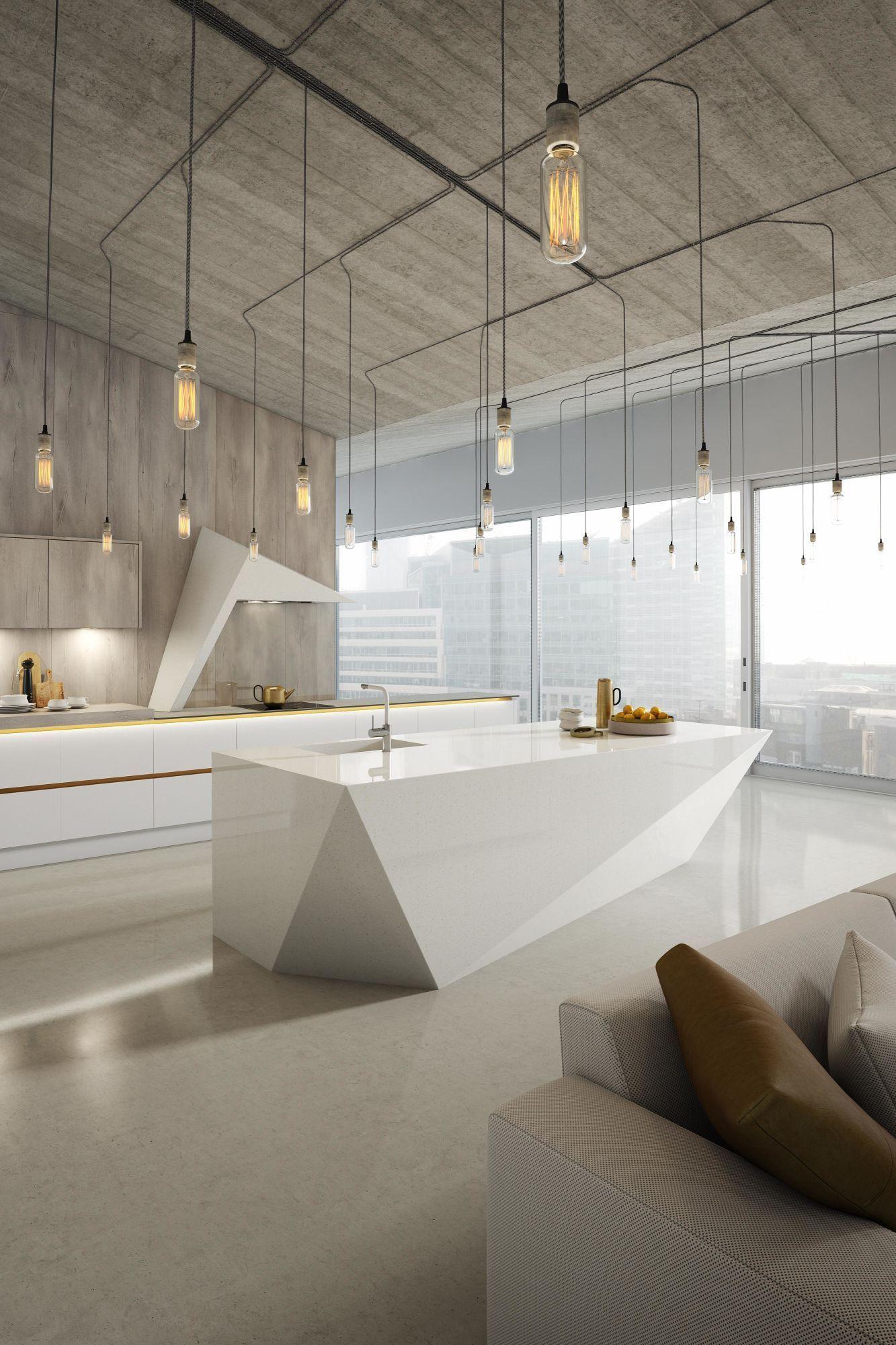 Milano Contour in Chalk White & Arctic Oak kitchen in 2020