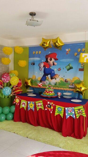 Mario Bross Party Idea Decoración Decoracion De Mario Bros Fiesta De Mario Bros Fiesta De Cumpleaños De Mario