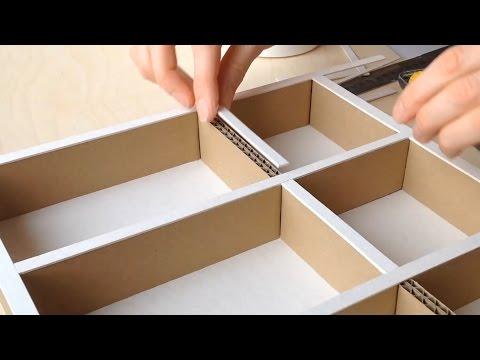 223 Diy How To Make A Cardboard Drawer Organizer Hd Corrugated