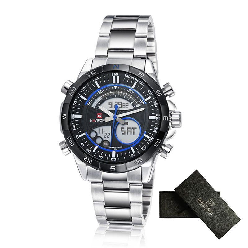 f00454e7c76 Relogio masculino NAVIFORCE Watches Men Luxury Brand Sport Men s Quartz  Watch Full steel Military Digital Wristwatch