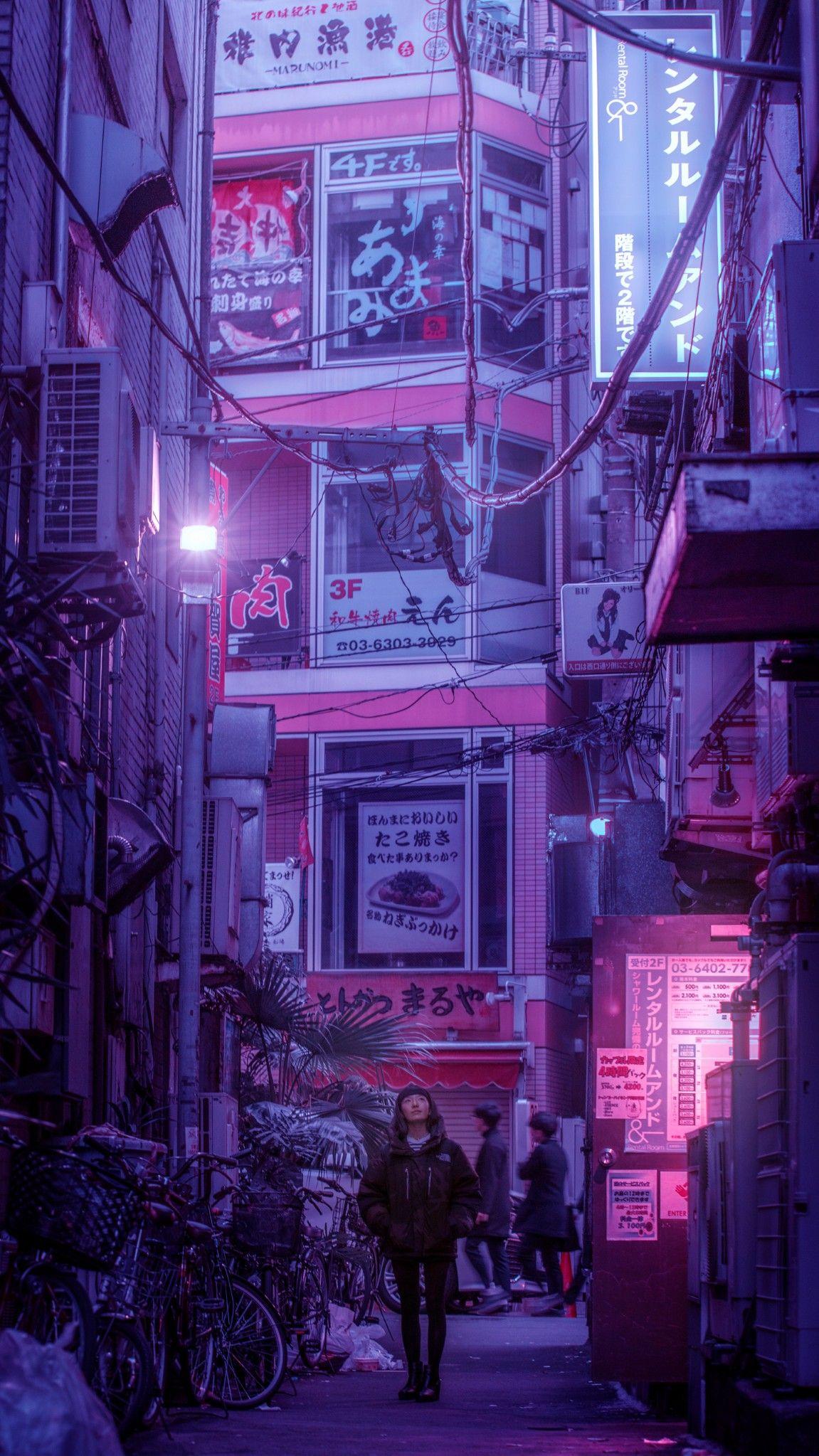 Chill Vibes Lofi Neon Lights Japanese Cyberpunk