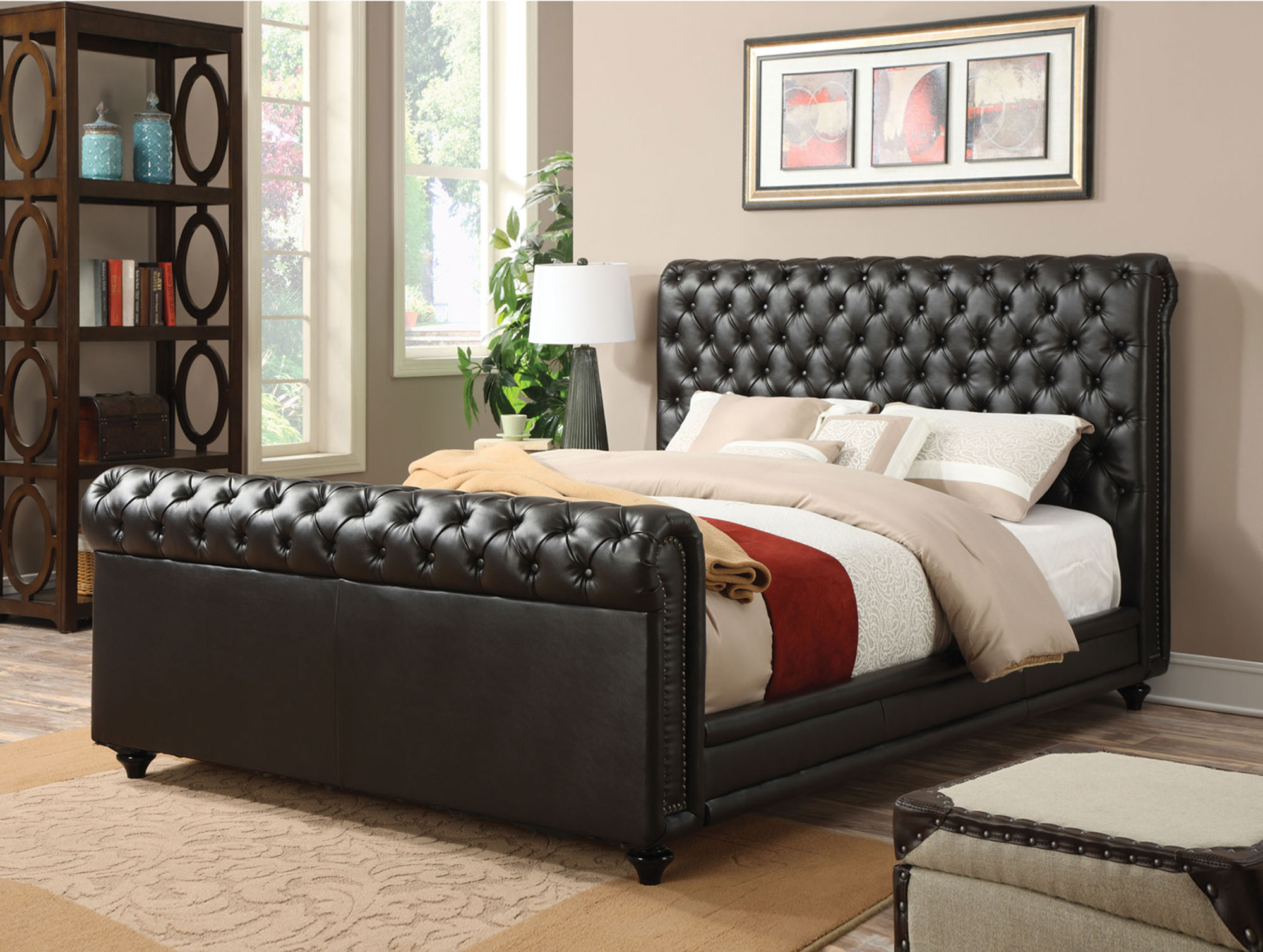 Norris Queen Leather Bed | Acme Furniture | Home Gallery Stores ...