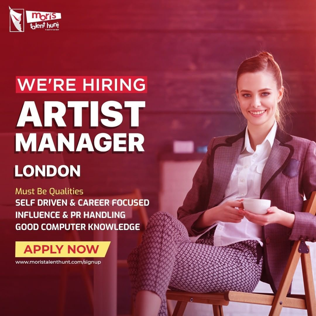 We're Hiring Artist Manager Must Be Qualities Self