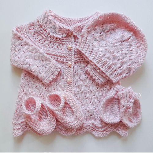 Lace Baby Layette Free Pattern Baby Pinterest Knitting