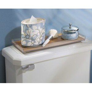 Toilet Tank Tray Would Put Jar Of Toilet Fizzes Spritzer Bottle Of Poo Pourri And Small Plant On Tray With Images Interdesign Bamboo Tank Toilet Tank