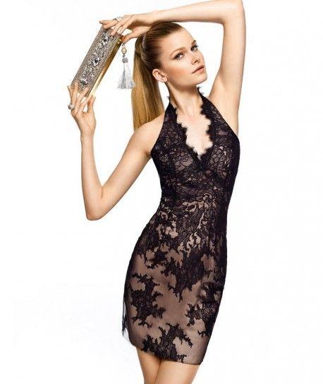 brand new ad040 0d39d Vestito di pizzo nero, Pronovias | fashionista | Abiti corti ...