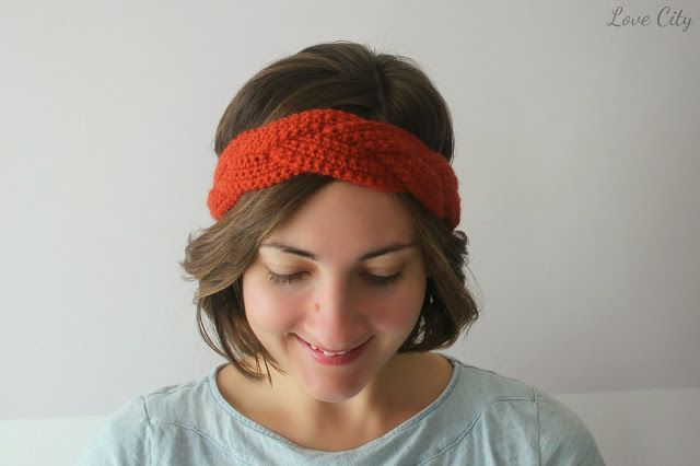 Headband braided crochet