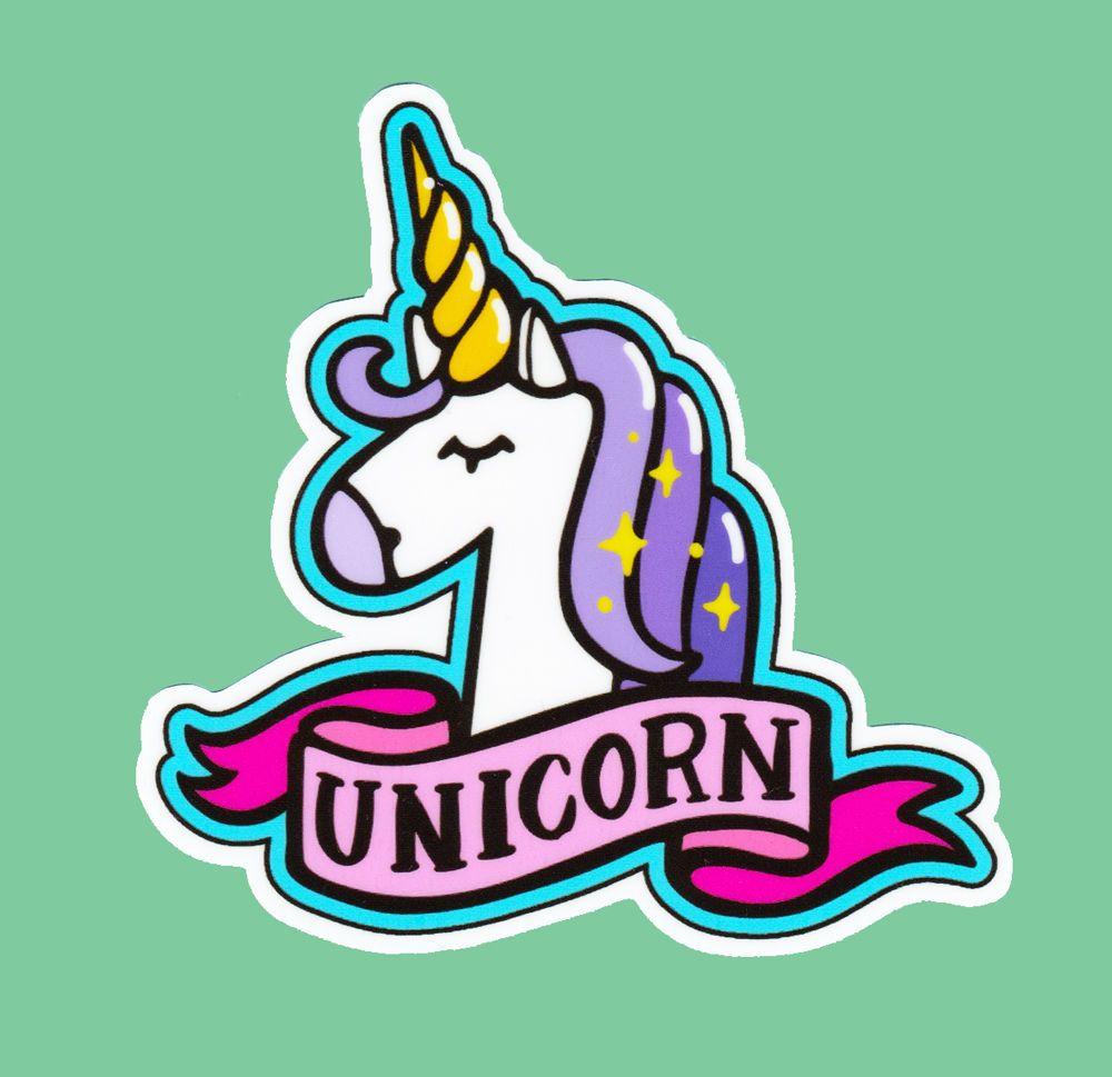 Unicorn Head Sticker Bomb Vinyl Decal Pretty Sparkle Magic