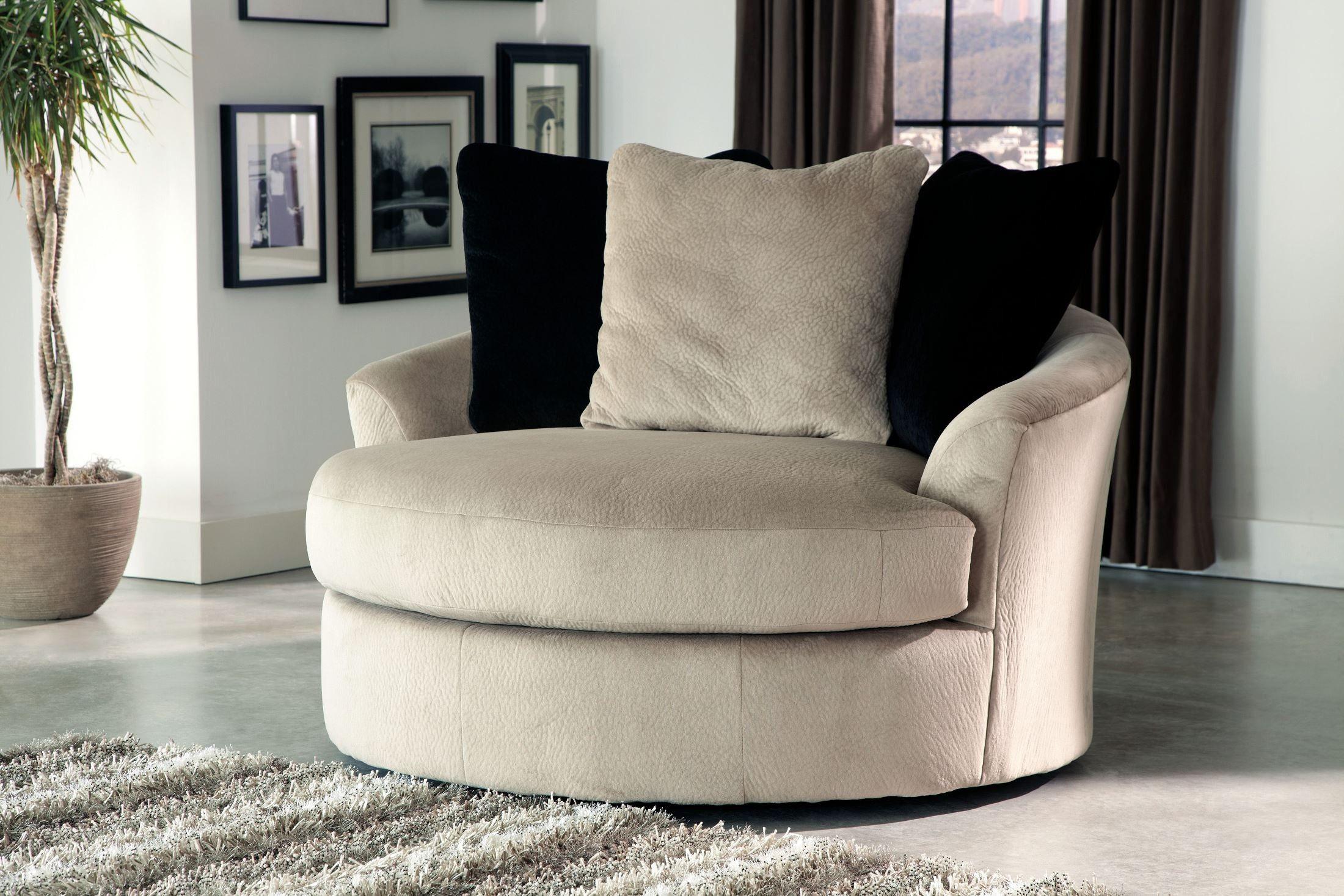 Heflin Pebble Oversized Swivel Accent Chair Stylish Chairs