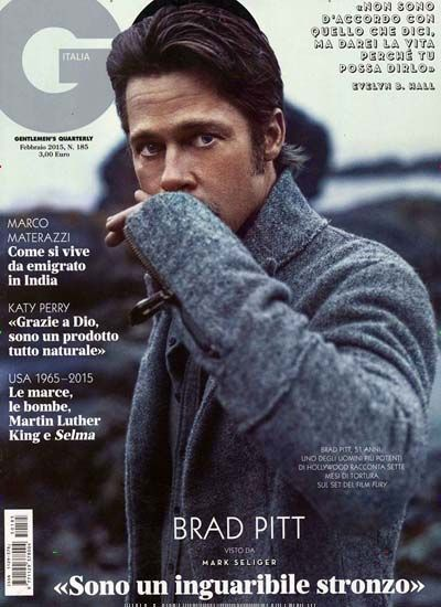 Brad Pitt. Gefunden in: GQ / IT, Nr. 185/2015