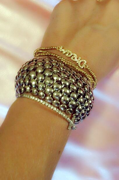 Love Layered Bracelets And The Sidways Cross Trend