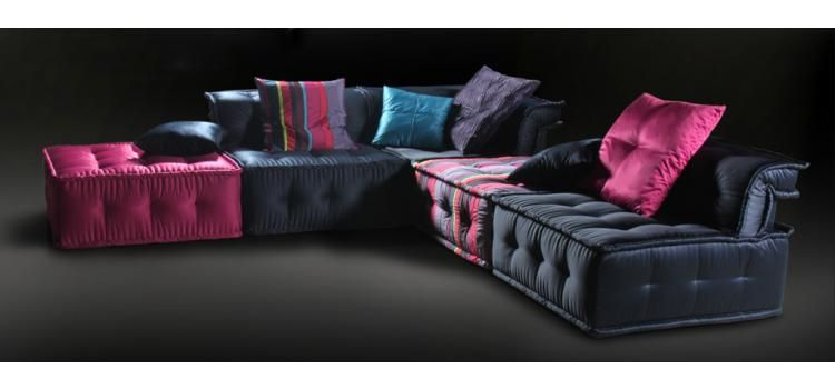 Versus Chloe Modern Fabric Sectional Sofa Living Room