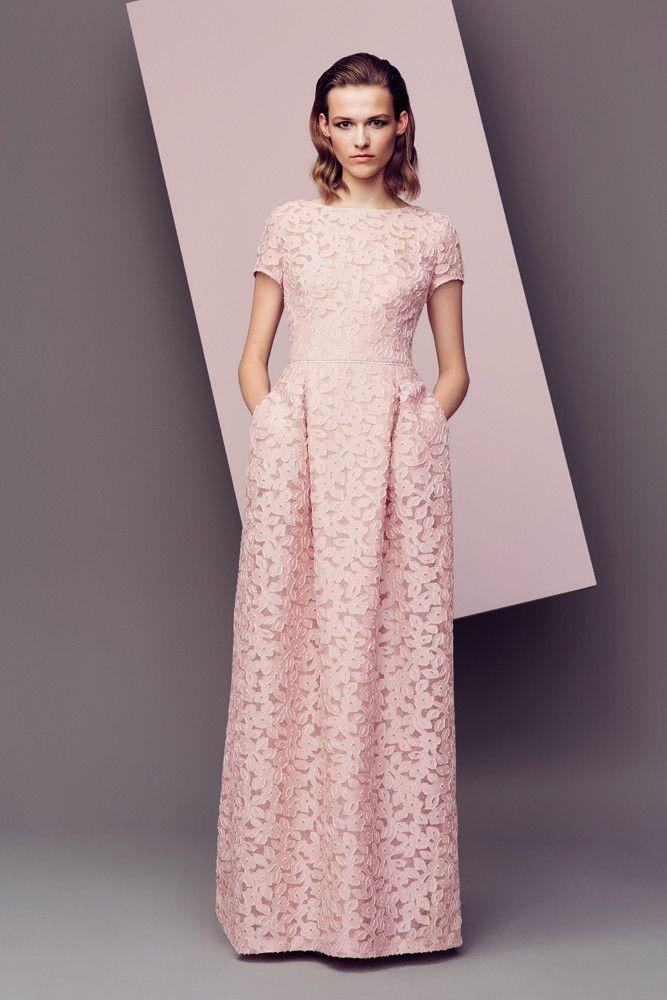 Long pastel dress Escada