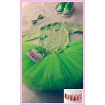 Set Cumpleaños Disfraz Body Con Inicial, Tutu, Zapatillas