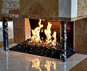 Indoor Fireplace Glass Rocks Bing Images Fireplaces Pinterest