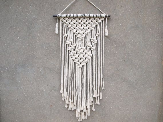 Macrame Wall Decor Rope Hanging Bohemian Christmas Gift For Aunt Unusual Grandmother