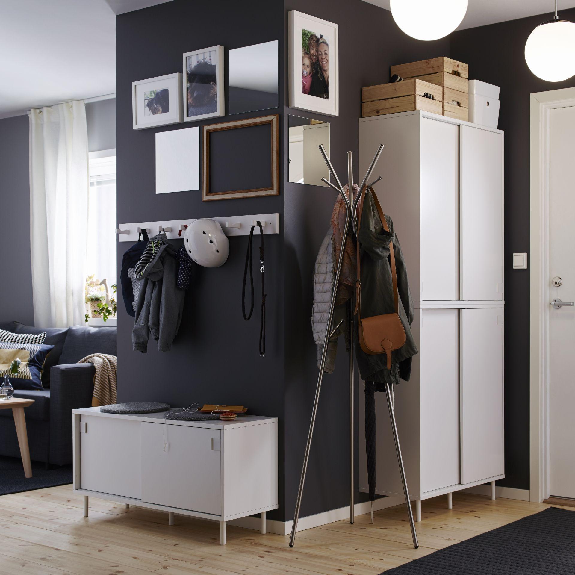 mackap r bank met opbergvakken nieuw bij ikea pinterest flure diele und ankleide. Black Bedroom Furniture Sets. Home Design Ideas