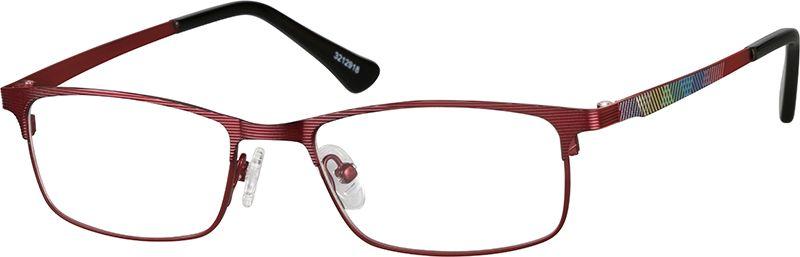 Red Kids' Rectangle Glasses 3212918 Zenni Optical