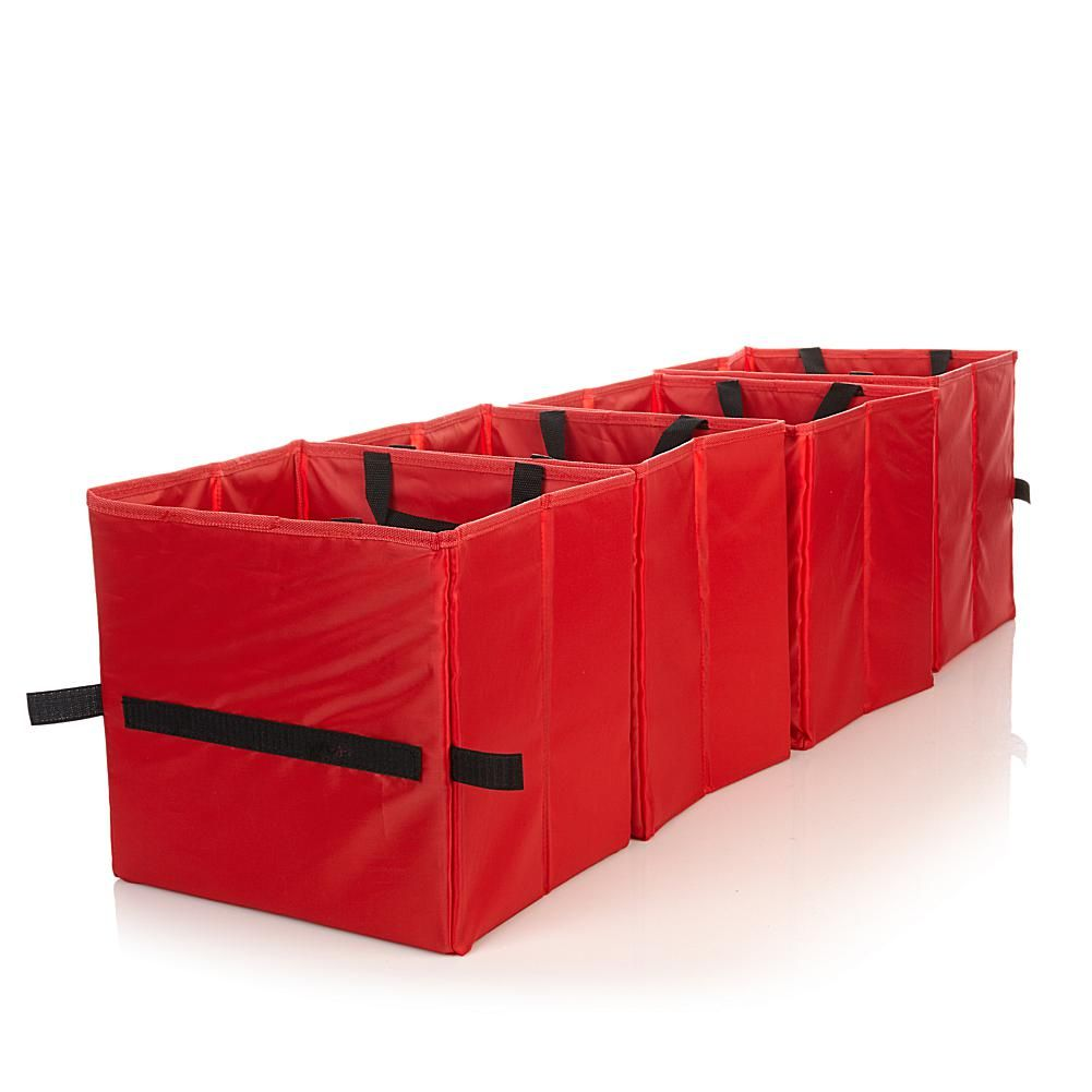 Trunk Tidy 4-pack Trunk Organizers - Red