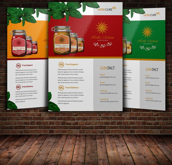 Herbal Product Flyer by Leza on Creative Market Stuff to Buy - free product flyer templates