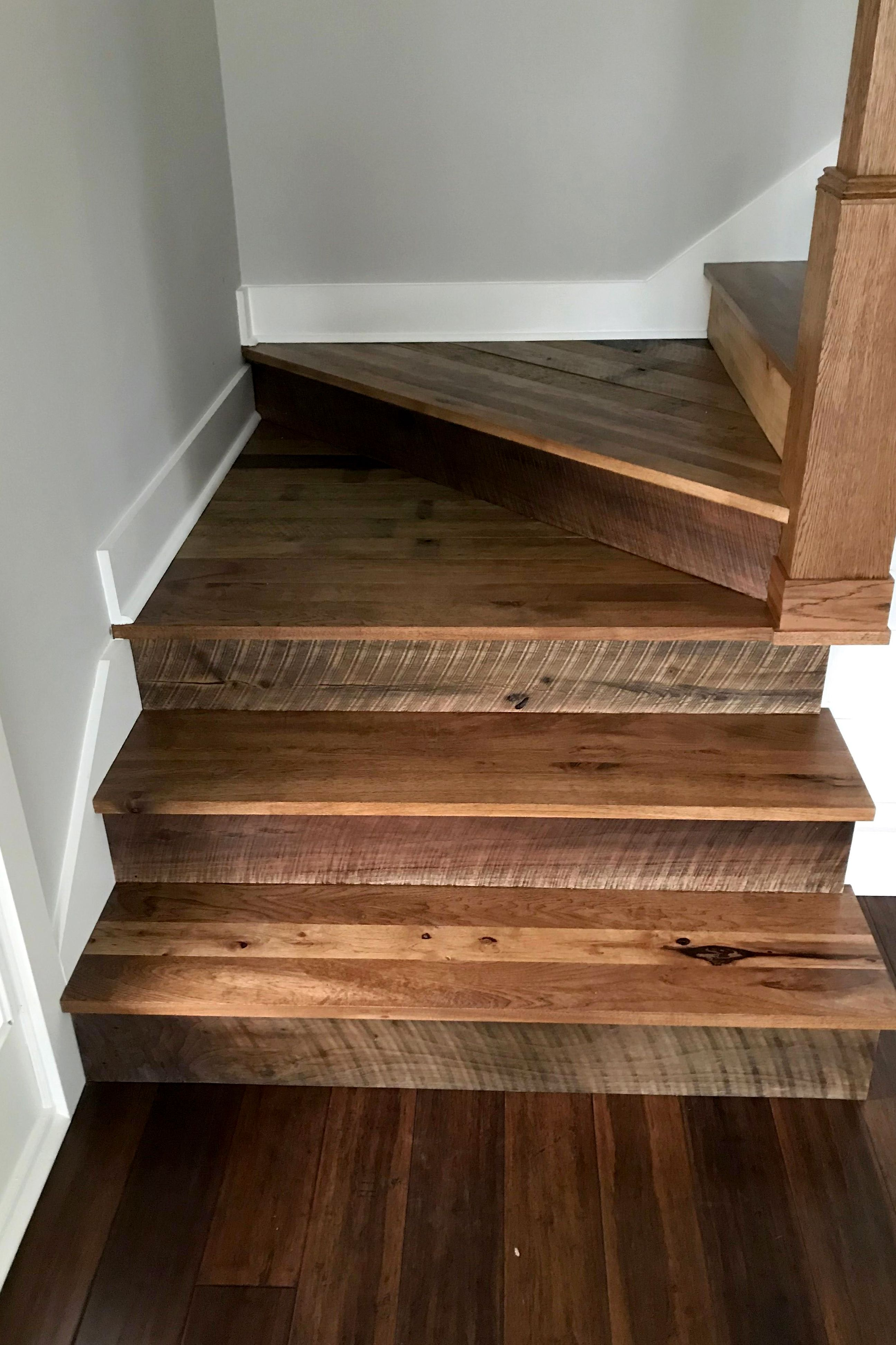 Best Character Hickory Stair Tread In 2020 Stairs Treads And 400 x 300