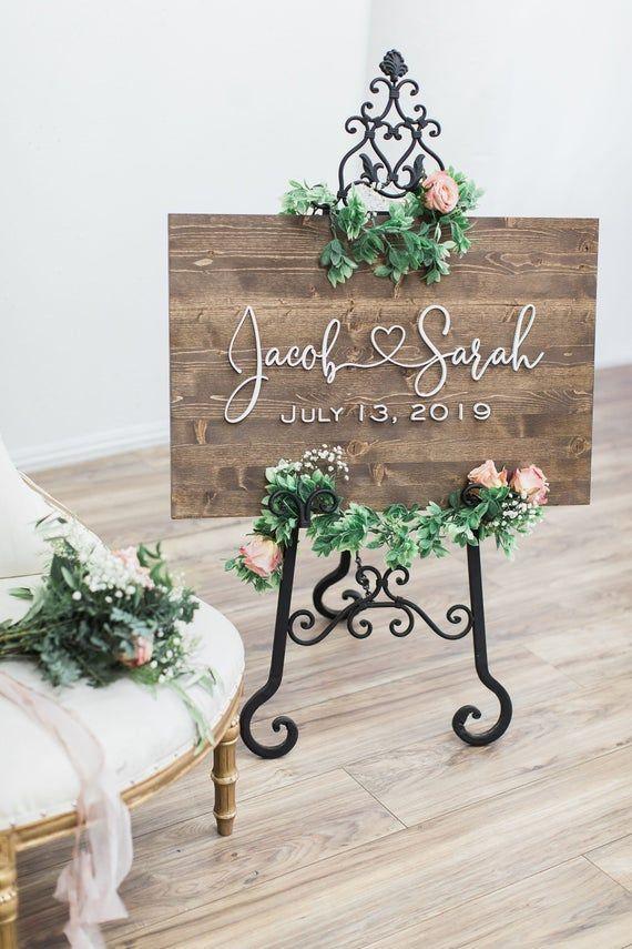 Wedding Welcome Sign, Wedding Sign, Rustic Wood Sign, Wedding Signage, Wedding Name Sign, Wood Wedding Sign, Custom Wedding Sign, Name Sign #weddingwelcomesign
