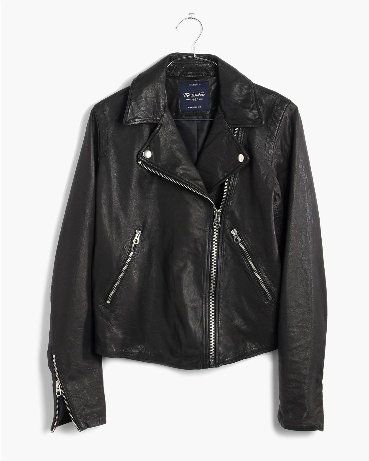 76136ccb451 madewell washed leather swing jacket.