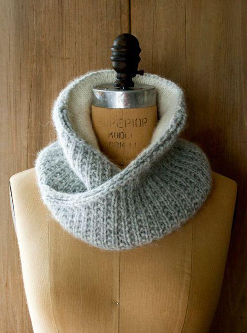 Shawl Collar Cowl - Free Knitting Pattern (Amazing ...