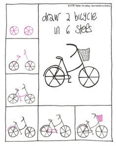 its amazing how many times i needed to draw a bicycle over the last few years draw a bicycle in 6 steps