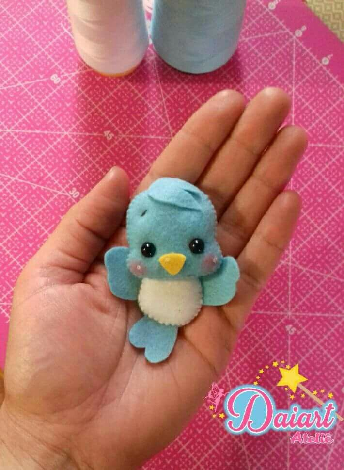 Cute felt bird #feltbirds