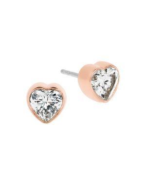 0e47c6794 MICHAEL KORS Modern Brilliance Crystal Heart Stud Earrings/Rose Goldtone. # michaelkors #goldtone