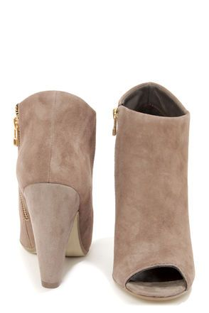 266dc98d9a9 Steve Madden Paulina Taupe Suede Peep Toe Ankle Booties - Obsessed with  these new peep toe booties! Must have!
