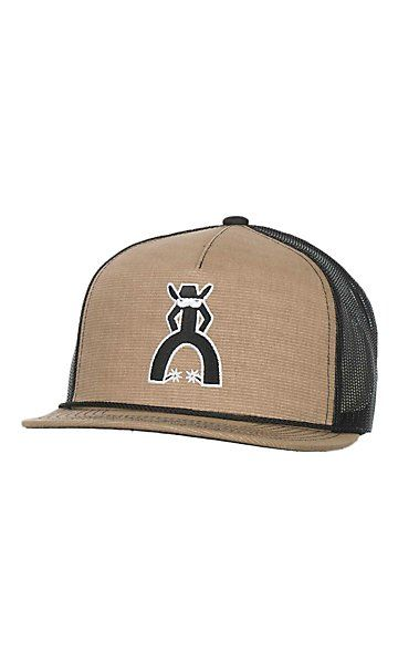79d3d38cbe9 HOOey Tan with Black Punchy Logo Mesh Back Snap Back Cap ...