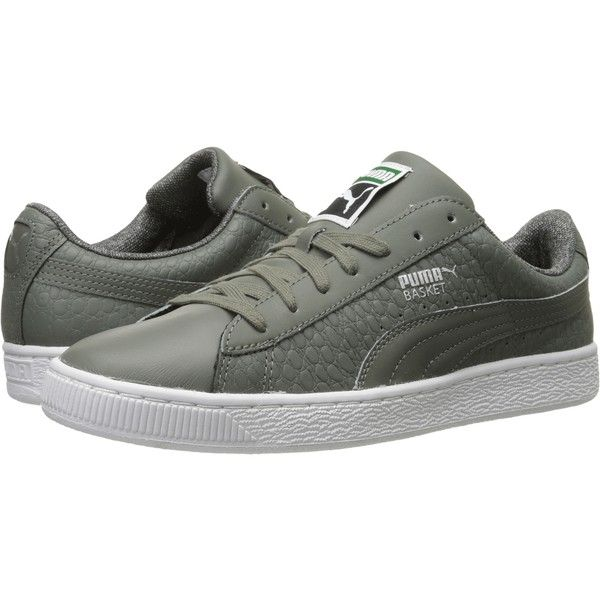 PUMA Basket Classic Textured (Castor Gray) Men s Basketball Shoes ( 41) ❤  liked a94707d51