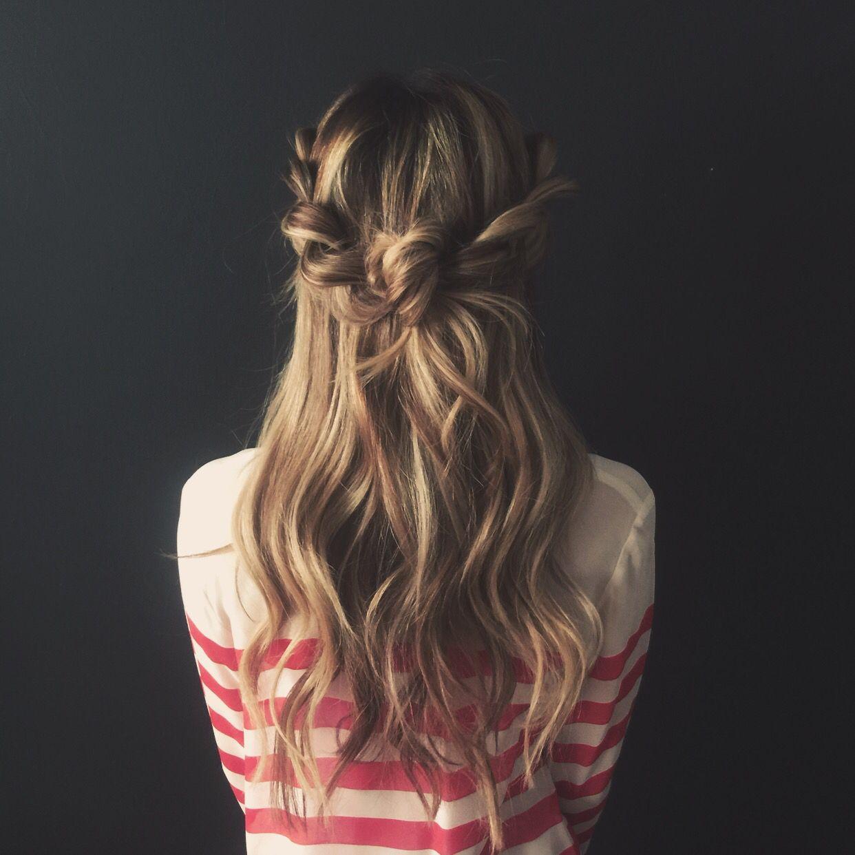 Messy braided knot bun blohaute / app