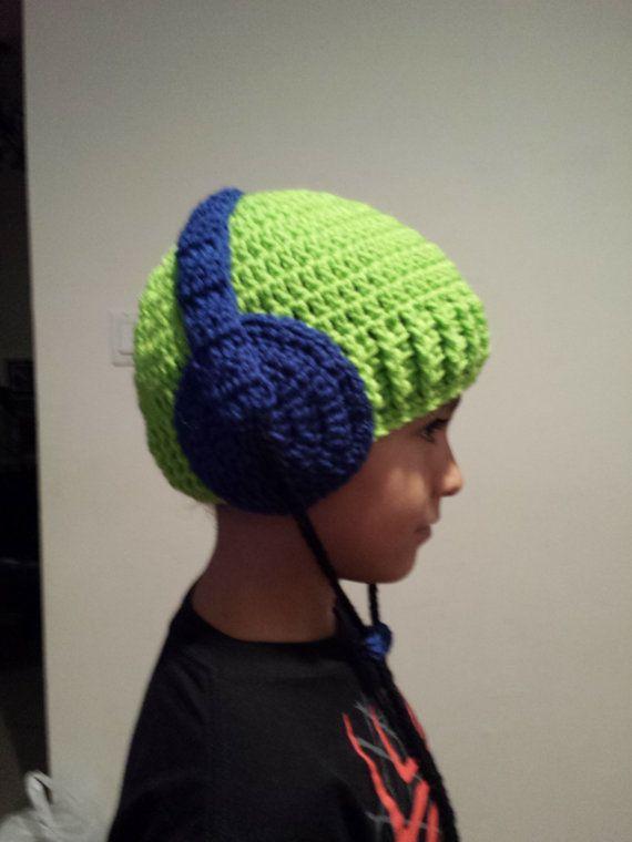 Gehäkelte Baby Jungen Mütze Mit Kopfhörer Made Jede Größe Elişim