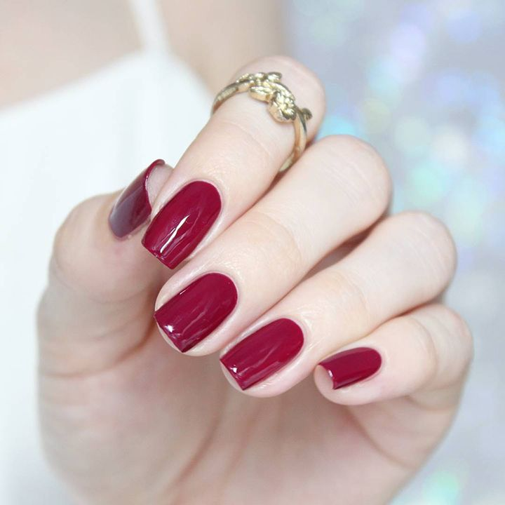 8 Perfect Red Nail Colors for December | Red nails, Wine nails and ...