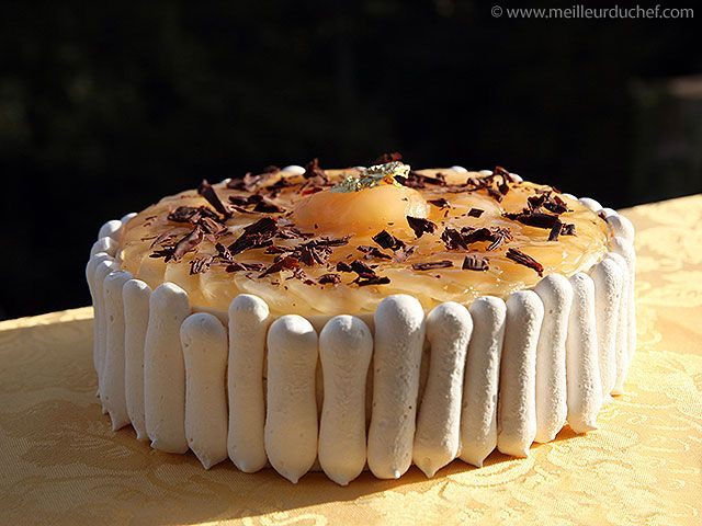 Chocolate Pear Mousse Cake Recette Cakes Sweets Mousse