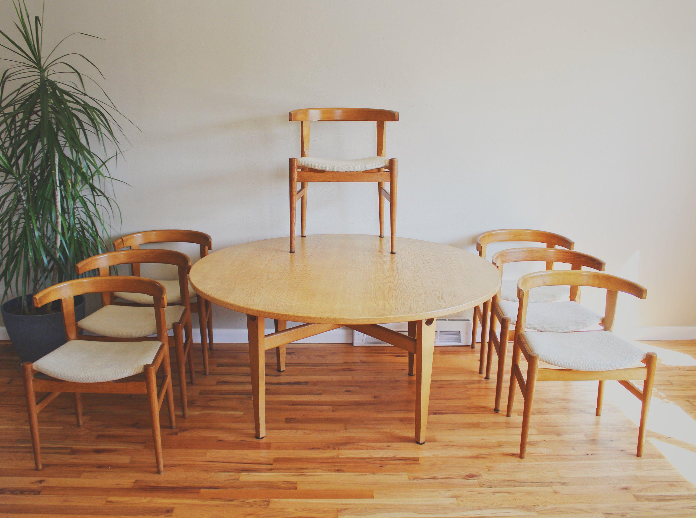 Hans Wegner Dining Chair Mid Century Modern Dining Table Set Hans