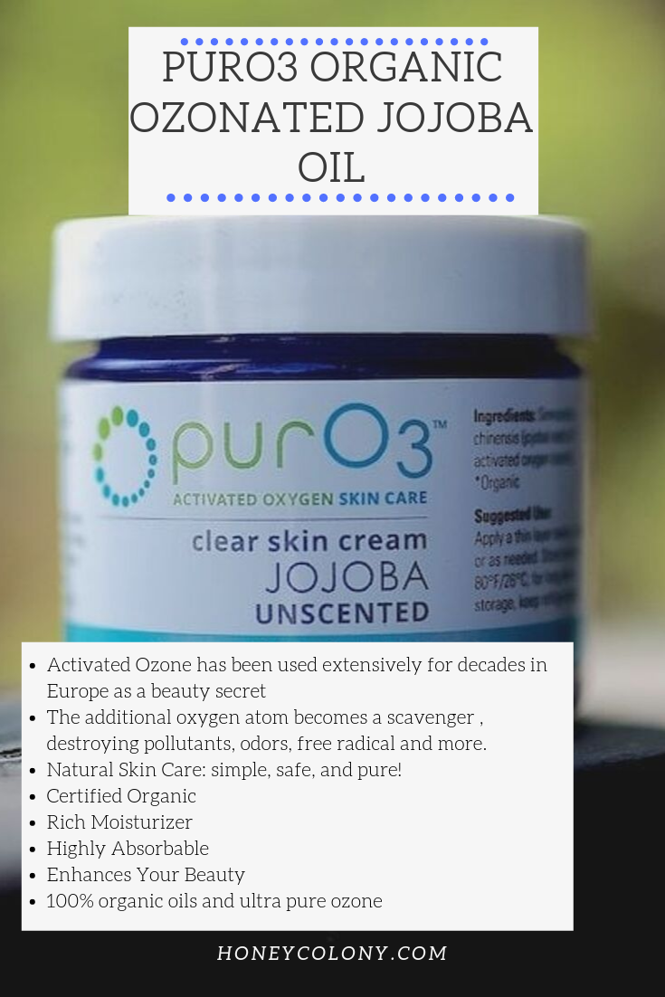 PurO3 Organic Ozonated Jojoba Oil #jojobaoil PurO3's Organic Ozonated Jojoba Oil is made up of activated oxygen, also known as ozone, is created by taking pure oxygen and electrically charging it. The result: organic ozonated jojoba oil is a light oil that can do wonders for your skin. Since it's saturated with oxygen and ozone, when you open the lid, it smells like a lightning bolt just went off nearby! n#Jojobaoil #Ozone #OzonatedOil #jojobaoil PurO3 Organic Ozonated Jojoba Oil #jojobaoil #jojobaoil
