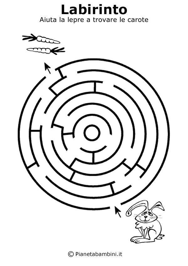 Labirinti Da Stampare Per Bambini Di 5 Anni Circa Stampe Per Bambini Labirinto Attivita Estive Per Bambini