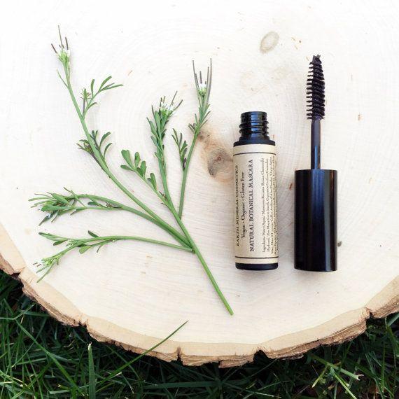 Natural Mascara • Botanical Blend • Black or Brown • Earth Mineral Cosmetics • Vegan + Organic + Gluten Free + Cruelty Free #mineralcosmetics