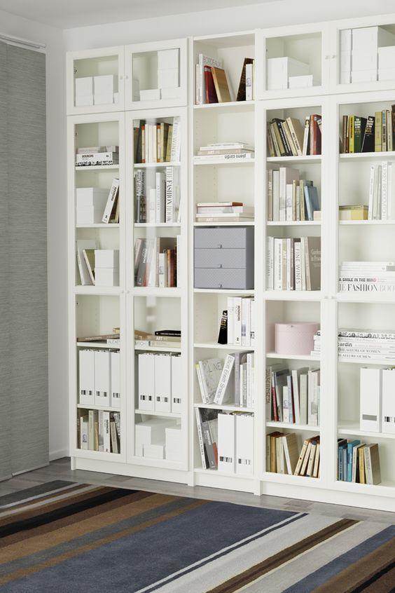 Ideeën voor de Ikea Billy boekenkast | inspiration college dorm ...