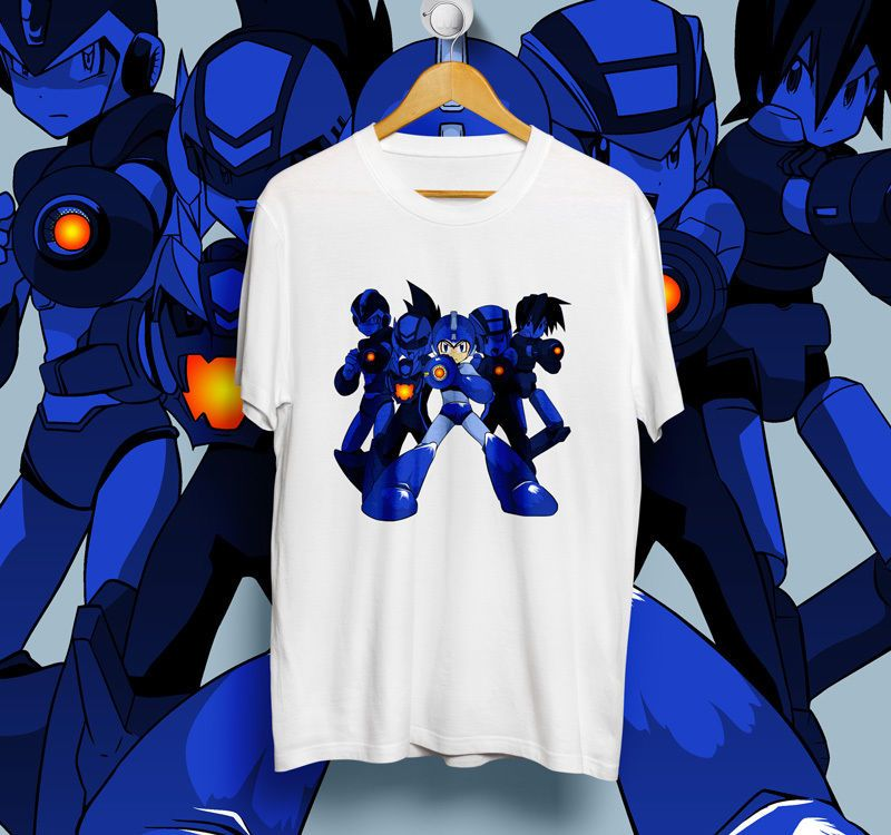 Mega Man White T-Shirt Unisex Size S,M,L,XL | DESIGN1512 #Unbranded #ShortSleeve