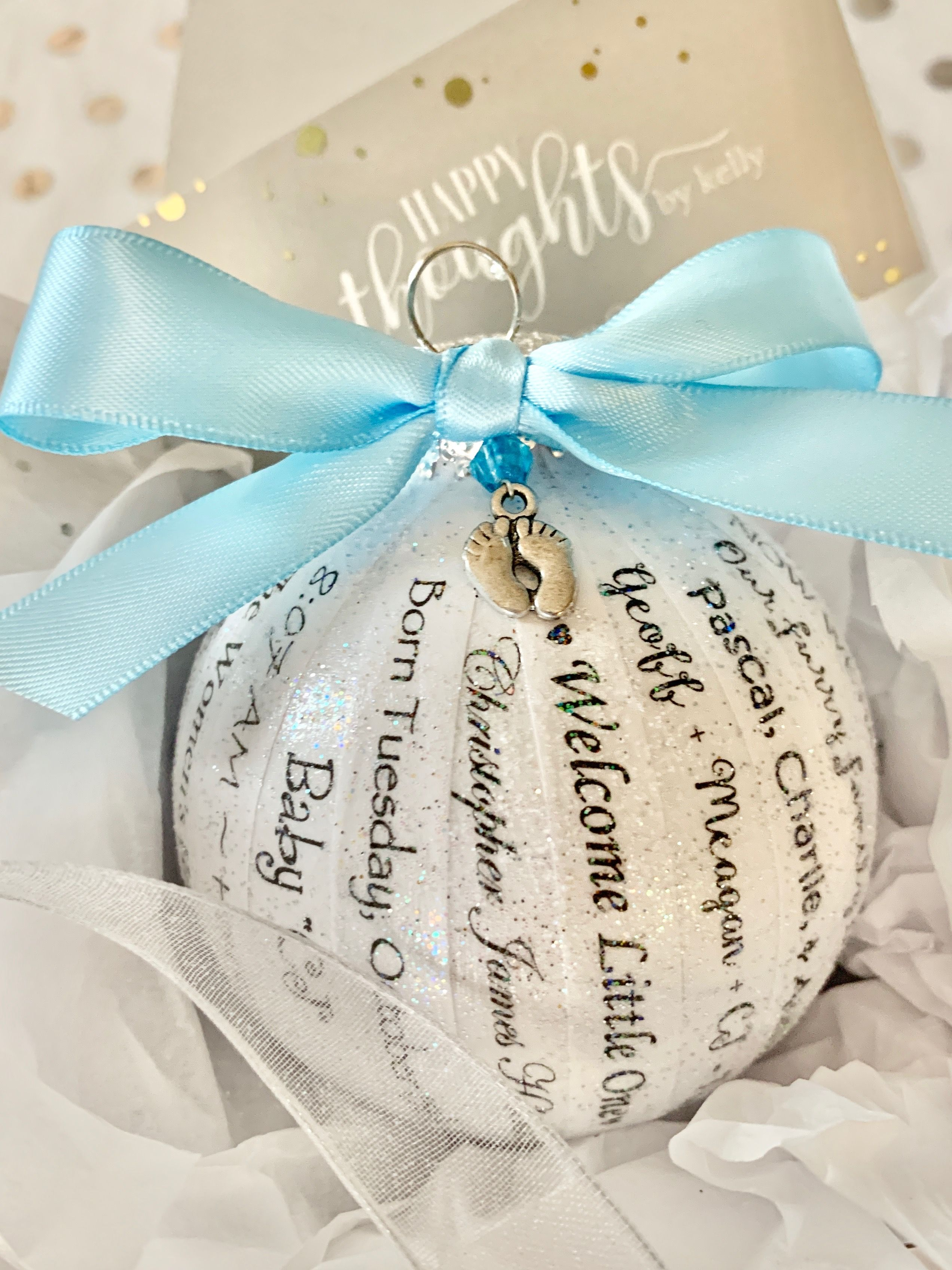 Personalized Baby Ornament Keepsake Gift For Parents Grandparents Baby Boy Baby Girl Personalized Baby Ornaments Baby Ornaments Memorial Ornaments