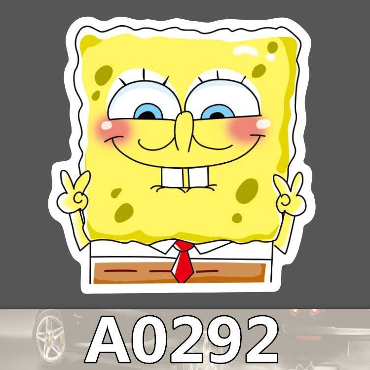 A Spongebob Waterproof Sticker For Cars Laptop Luggage Fridge - Spongebob decals for cars