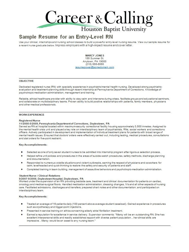 psychiatric nurse resume sample